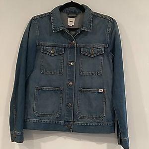 Vans•utility style denim button up collared jacket